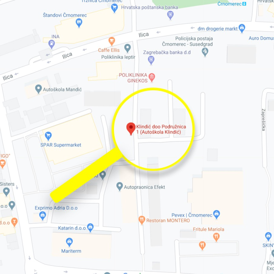 Zagreb lokacija karta